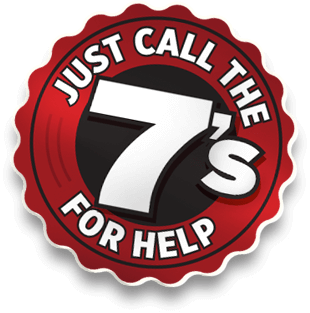 Just Call the 7's for Help Logo