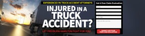 If you or a loved one has been injured in a tractor trailer accident, contact PA truck accident lawyer, Freeburn Law immediately!