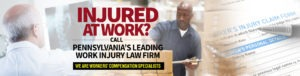 Freeburn Hamilton has been representing injured workers in Pennsylvania since 1982. The PA workers' compensation attorneys at Freeburn Hamilton are certified workers' compensation law specialists by the Pennsylvania Bar Association.Our attorneysunderstand how a work injury can change your life and the lives of your loved ones. The experienced PA workers' compensation team of attorneys atFreeburn Hamilton is dedicated to helping you and your family through this difficult time. Contact us today at the 7's!