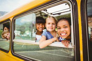 Kids on school bus