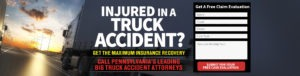 If you or a loved one has been injured in a tractor trailer accident, contact PA truck accident lawyer, Freeburn Hamilton immediately!
